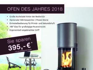 Aufbaukosten bis 300€ kostenlos + 395€ Ofen des Jahres Rabatt. Sie sparen 695€